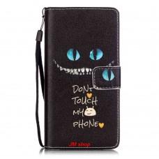 HUAWEI P9 Lite kožený obal Don't Touch My Phone