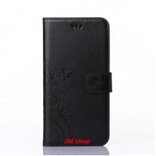 Samsung Galaxy S6 Edge kožený obal Butterfly Black