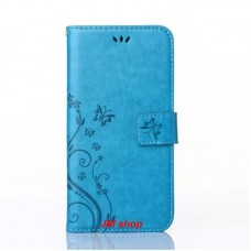 Samsung Galaxy S6 Edge kožený obal Butterfly Blue