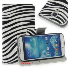 Samsung Galaxy S4 kožený obal Zebra - SKLADEM