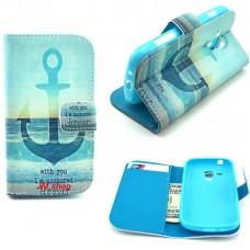 Samsung Galaxy Trend /S Duos kožený obal Blue Anchor - SKLADEM