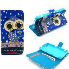 Motorola Moto E kožený obal Blue Owl