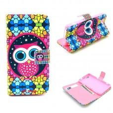 Samsung Galaxy Trend /S Duos kožený obal Colorful Owl