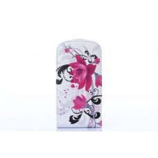 Samsung Galaxy S3 Mini kožený flip Flower