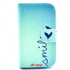 Samsung Galaxy Fame kožený obal Smile