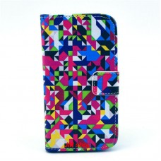 HTC Desire 500 kožený obal Colorful Puzzle