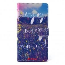 Sony Xperia T3 kožený obal Enjoy Every Moment