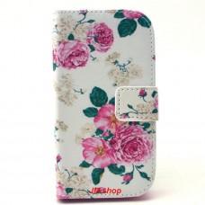 Samsung Galaxy G310 kožený obal Penoy Flower