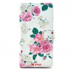 Nokia Lumia 830 kožený obal Penoy Flower