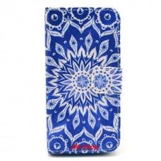 iPhone 5C kožený obal Blue Star