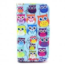 Samsung Galaxy Ace 2 kožený obal Blue Owls