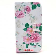 Samsung Galaxy Grand 2 kožený obal Penoy Flower