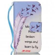iPhone 4/ 4S kožený obal Broken Wings