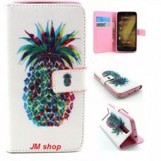 Asus Zenfone 2 kožený obal Pineapple