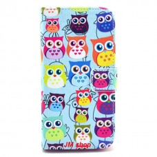 LG G2 kožený obal Blue Owls
