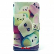 Alcatel OneTouch POP C9 kožený obal Marshmallow