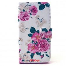 Samsung Galaxy A3 kožený obal Penoy Flower