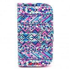 Samsung Galaxy Trend /S Duos kožený obal Abstract Geometric
