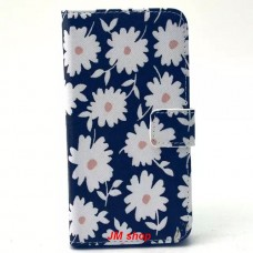 Samsung Galaxy S6 kožený obal Black Floral