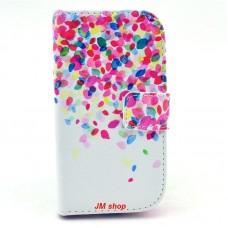Samsung Galaxy Trend /S Duos kožený obal Colorful Petals