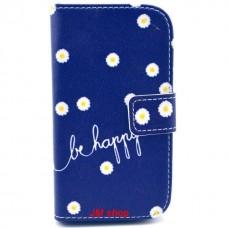 Samsung Galaxy Star Pro kožený obal Be Happy Flower