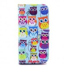 Samsung Galaxy S4 Mini kožený obal Blue Owls