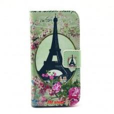 Samsung Galaxy S4 Mini kožený obal Eiffel Tower