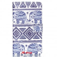 LG Magna kožený obal Cool Elephant