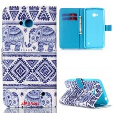 Microsoft Lumia 640 kožený obal Blue Elephant