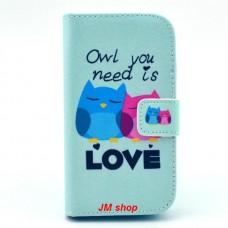 Samsung Galaxy G313 kožený obal Loving Owls