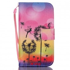 Samsung Galaxy S4 Mini kožený obal Dandelions Fairies