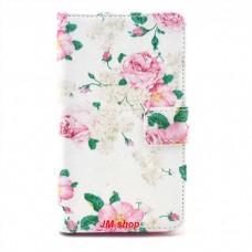 Sony Xperia SP kožený obal Penoy Flower