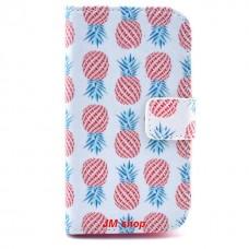 Samsung Galaxy G313 kožený obal Pineapple