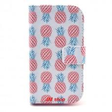 Samsung Galaxy Ace 3 kožený obal Pineapple