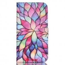 HUAWEI Nexus 6P kožený obal Lotus Flower