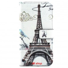 Samsung Galaxy S6 Edge Plus kožený obal Eiffel Tower