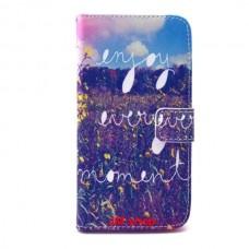 Samsung Galaxy Grand Prime kožený obal Enjoy Every Moment