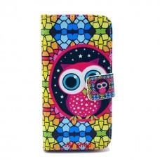 Samsung Galaxy S4 Mini kožený obal Colorful Owl