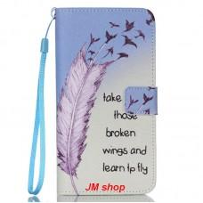 Samsung Galaxy S6 Edge kožený obal Broken Wings