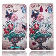 HUAWEI Ascend Y550 kožený obal Floral