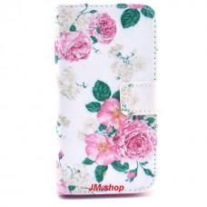 LG G2 Mini kožený obal Floral