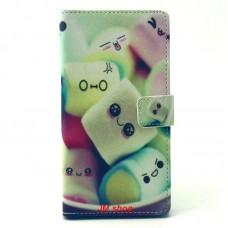 Sony Xperia T3 kožený obal Marshmallow