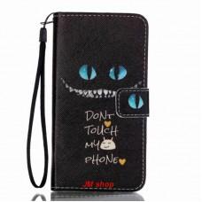 Samsung Galaxy A3 2016 kožený obal Don't Touch My Phone