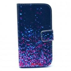 HTC Desire 500 kožený obal Blue Stars