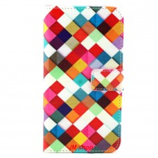 Samsung Galaxy S6 Edge Plus kožený obal Colorful Squares