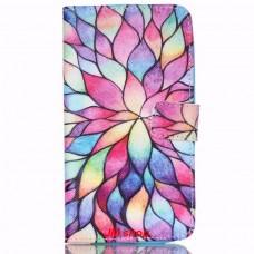 Motorola Moto X Play kožený obal Lotus Flower