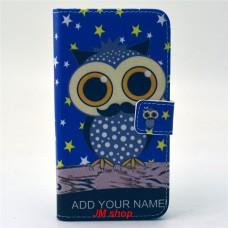 Samsung Galaxy S6 kožený obal Blue Owl