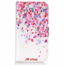 Sony Xperia Z5 Compact kožený obal Lots Flower