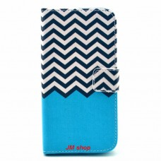 LG G3S kožený obal Blue Wave