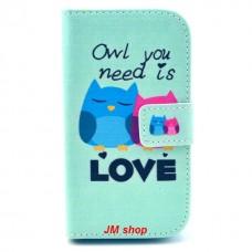 Samsung Galaxy Star Pro kožený obal Loving Owls
